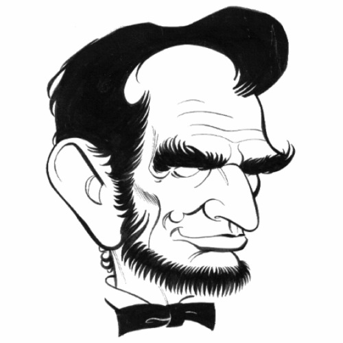 Lincoln caricature - Men's Premium T-Shirt