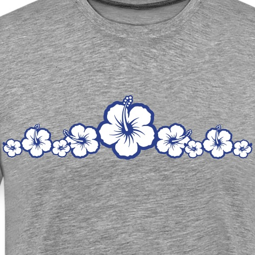 Hawaiian Hibiscus Flowers - Surfing Style - Men's Premium T-Shirt