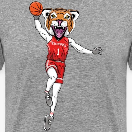 Tiger mascot basketball - Men's Premium T-Shirt