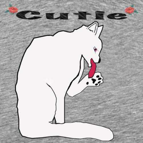 Cute White Cat T Shirt - Men's Premium T-Shirt