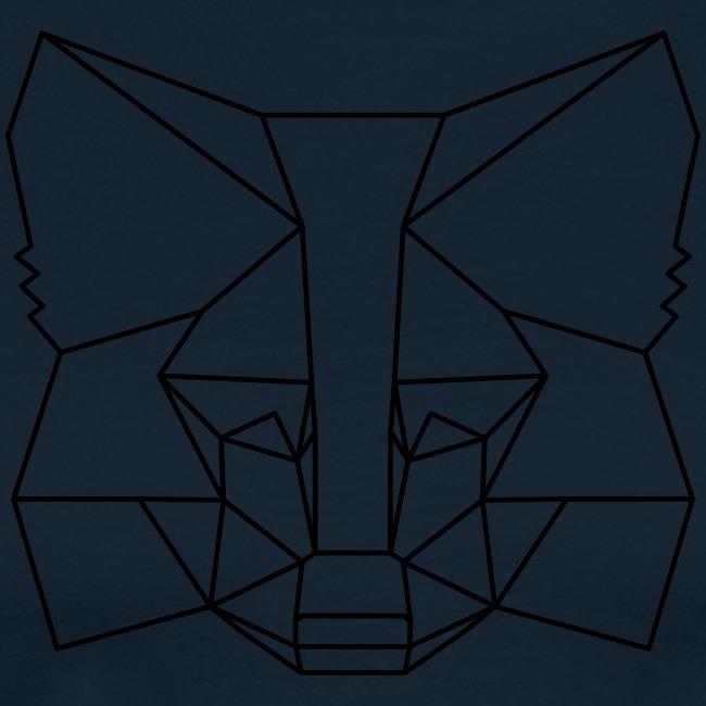 MetaMask Fox Outline black