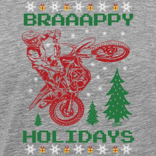 Ugly Christmas Motocross - Men's Premium T-Shirt