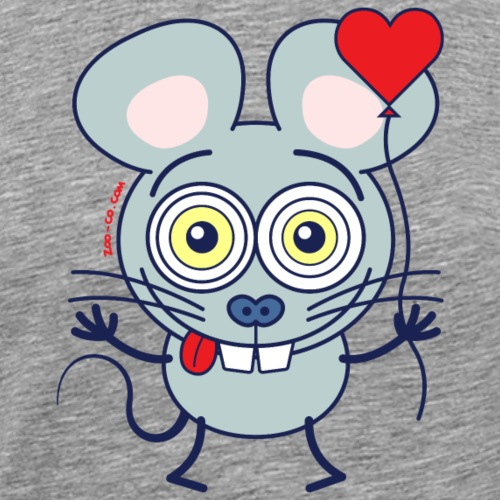 Little mouse falling madly in love - Men's Premium T-Shirt