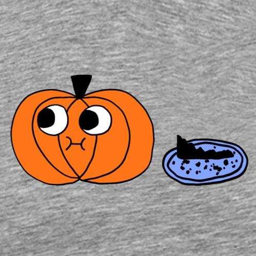 Pumpkin and Pie, Black Outline (tshirts) - Men's Premium T-Shirt