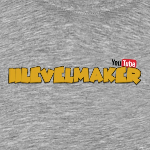 Text W/ Youtube Logo - Men's Premium T-Shirt