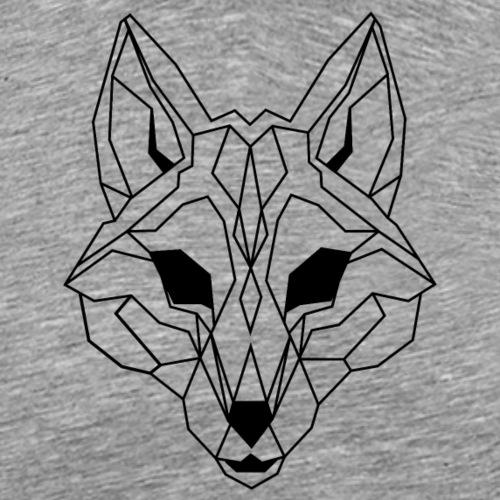 Lineart of a wolf / wolf transparent - Men's Premium T-Shirt
