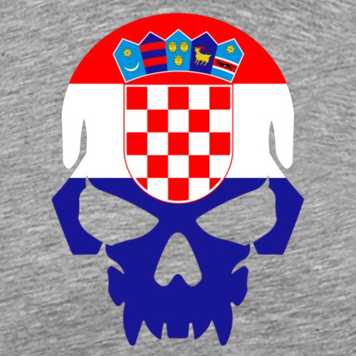 Flag of Croatia Skull - Men's Premium T-Shirt