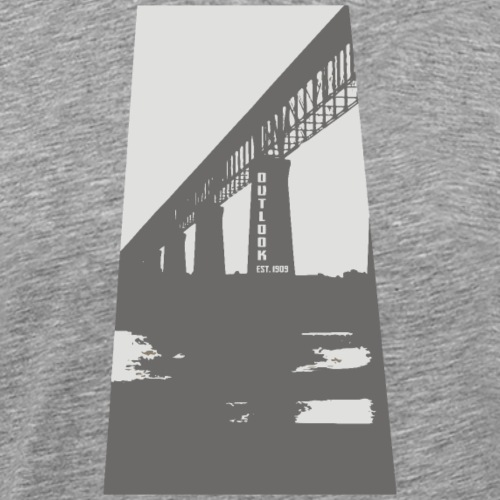 Outlook Train Bridge - Men's Premium T-Shirt
