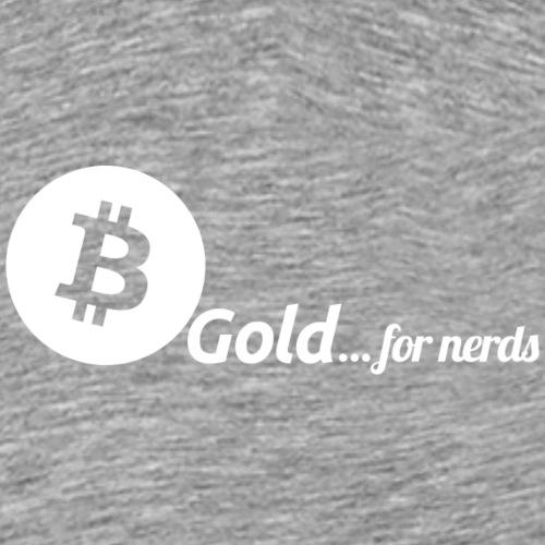 Bitcoin, gold for nerds. White version. - Men's Premium T-Shirt