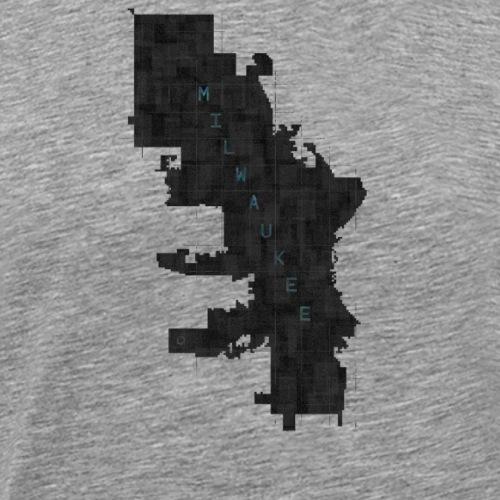 milwaukee grid blue - Men's Premium T-Shirt