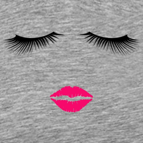 Lipstick and Eyelashes - Men's Premium T-Shirt