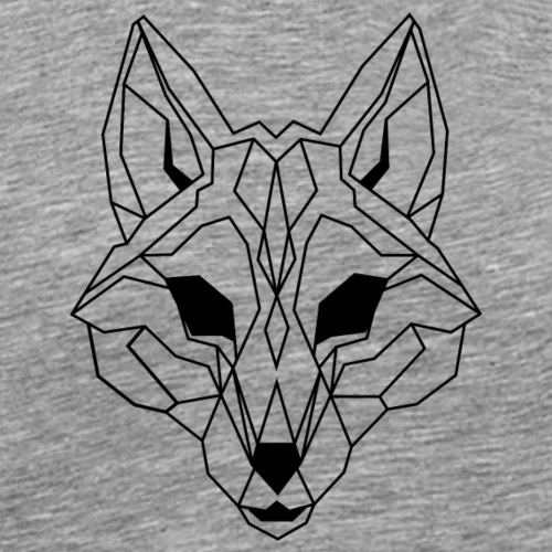Lineart of a wolf / wolf transparent - Men's Premium T-Shirt