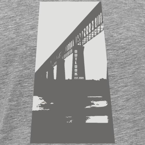 Outlook Train Bridge - Men's Premium T-Shirt