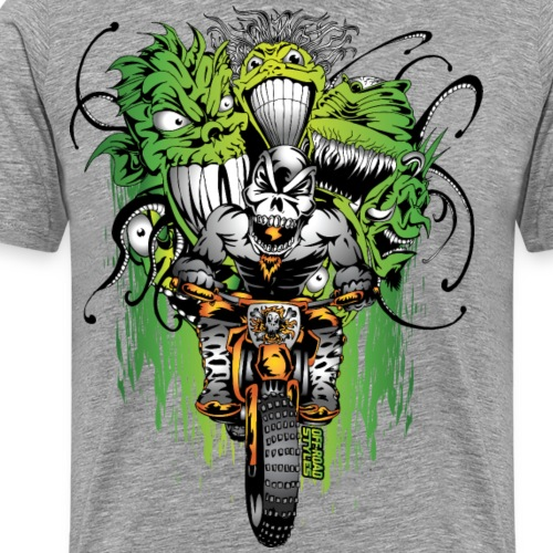 Motocross Ghouls - Men's Premium T-Shirt