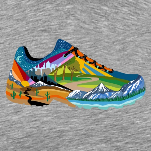 American Hiking x THRU Designs Apparel - Men's Premium T-Shirt