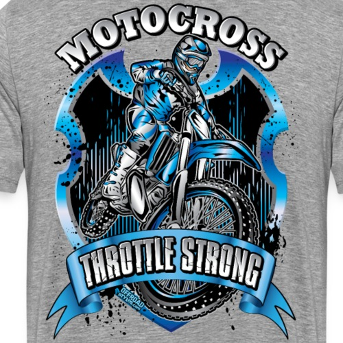 Motocross Throttle Strong - Men's Premium T-Shirt