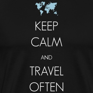 Keep calm and travel often - Men's Premium T-Shirt