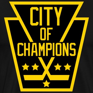 City of Champions - Black and Gold - Men's Premium T-Shirt