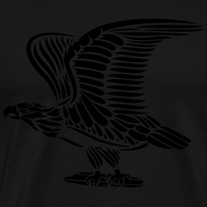 Tattoo eagle with wings. - Men's Premium T-Shirt