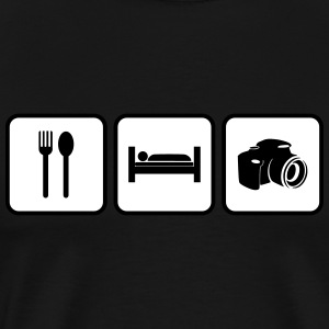 eat sleep photography - Men's Premium T-Shirt