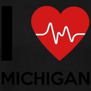 I Love Michigan - Men's Premium T-Shirt