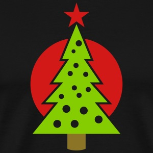 christmas tree with circle - Men's Premium T-Shirt