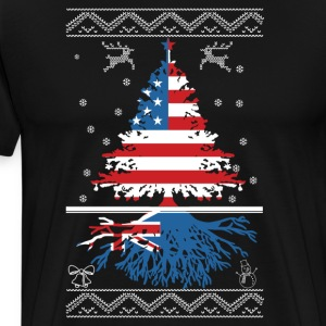 American with Australian root - Men's Premium T-Shirt