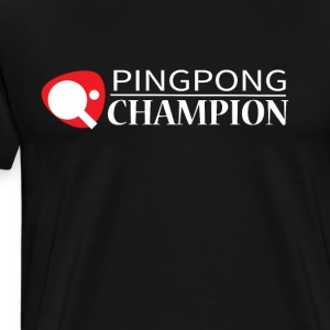 Ping Pong Champion Graphic Tee Shirt - Men's Premium T-Shirt