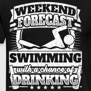 Weekend Forecast Swimming Drinking Tee - Men's Premium T-Shirt