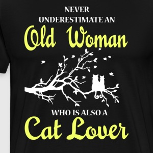Old Woman Is Also A Cat Lover T Shirt - Men's Premium T-Shirt