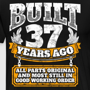 37th birthday gift idea: Built 37 years ago Shirt - Men's Premium T-Shirt