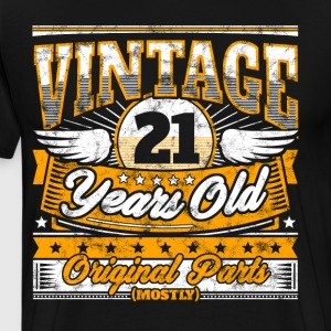 Funny 21th Birthday Shirt: Vintage 21 Years Old - Men's Premium T-Shirt