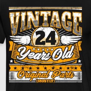 Funny 24th Birthday Shirt: Vintage 24 Years Old - Men's Premium T-Shirt