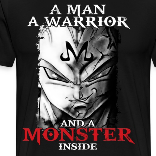 super saiyan majin vegeta monster inside tshirt - Men's Premium T-Shirt