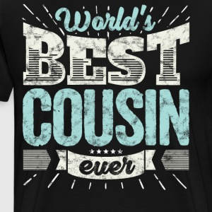 Cool family gift shirt: World's best cousin ever - Men's Premium T-Shirt