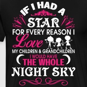 I Love My Children And Grandchildren T Shirt - Men's Premium T-Shirt
