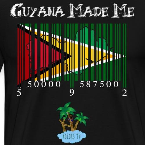 guyana made me white version - Men's Premium T-Shirt