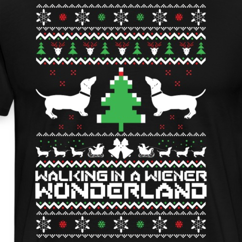 christmas puppies - Men's Premium T-Shirt