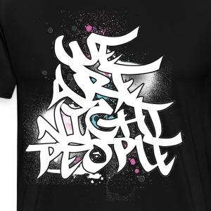 We Are Night People White - Men's Premium T-Shirt