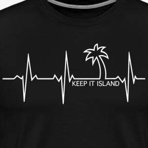 Keep It Island EKG - Men's Premium T-Shirt