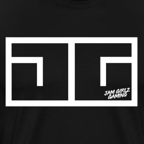 JG Logo White - Men's Premium T-Shirt