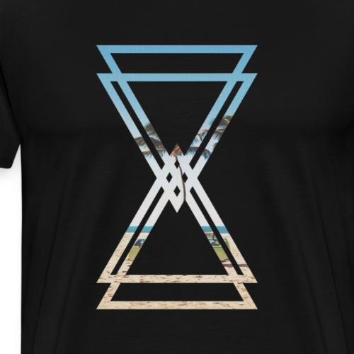 4 Triangle T-shirt California Mask - Men's Premium T-Shirt