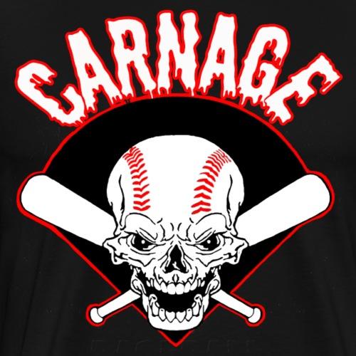 carnage baseball white - Men's Premium T-Shirt