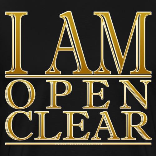 I AM Open Clear Gold - Men's Premium T-Shirt
