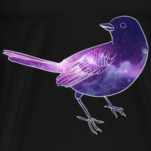 Galaxy in bird - Men's Premium T-Shirt