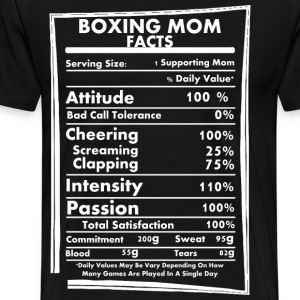 Boxing Mom Facts Daily Values May Be Vary - Men's Premium T-Shirt