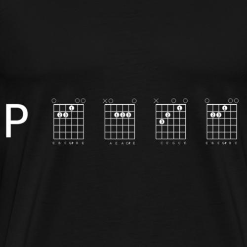 Peace in guitar - Men's Premium T-Shirt
