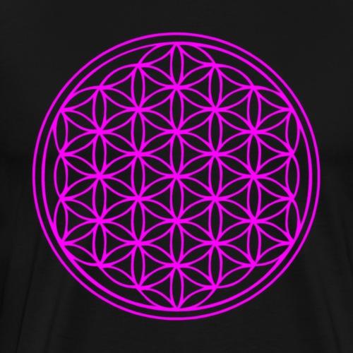 flower of life purple - Men's Premium T-Shirt