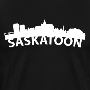 Arc Skyline Of Saskatoon Saskatchewan Canada - Men's Premium T-Shirt