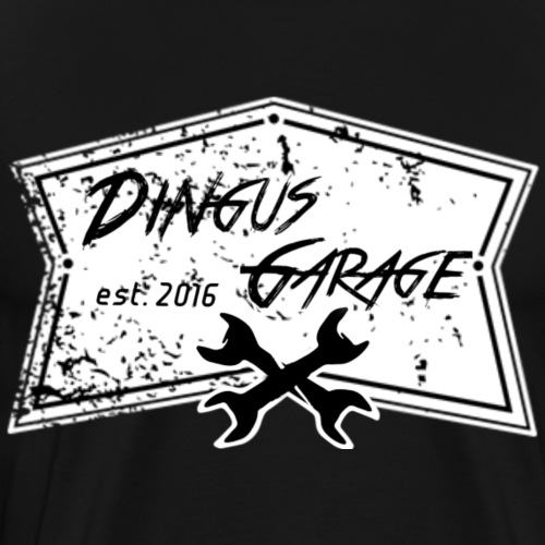Dingus Garage, white - Men's Premium T-Shirt